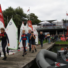 Skiffsegler*innnen ein fester Bestandteil des Kids-Cup   (c) Simone Asbeck