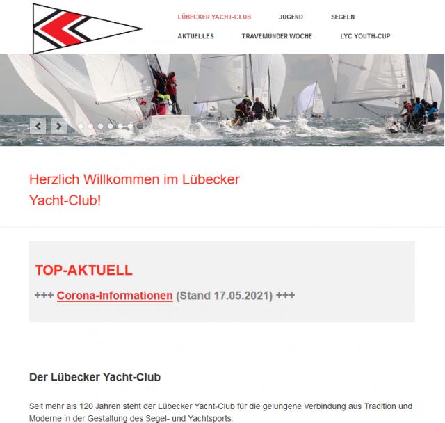 Screenshot der Webseite des LYC