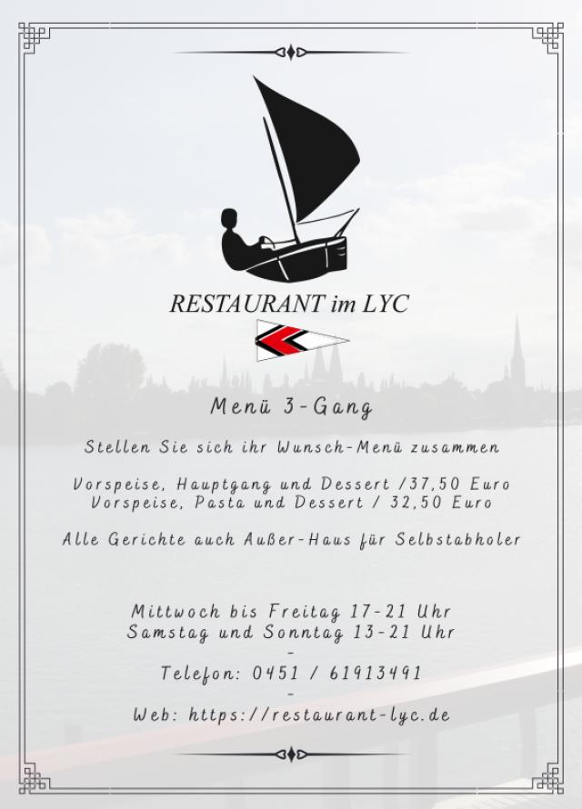 Speisekarte Seite 1 | (c) Restauramt im LYC