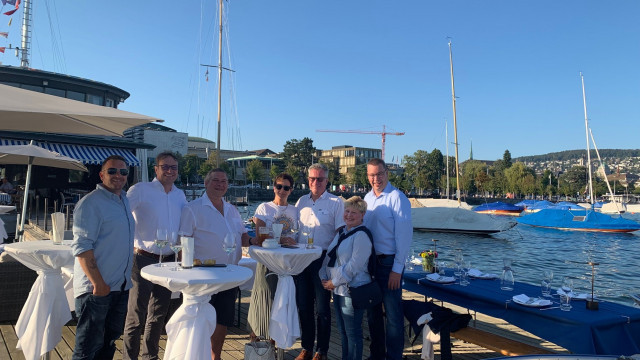 Lionel Büttner, Anderl Denecke, Sascha Osterwalder, Marina Kleinfeldt, Lutz Kleinfeldt, Michaela Kath, Jens Kath (v.l.n.r)   (c) TW